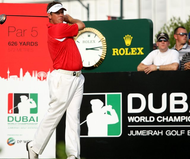 Lee Westwood tees off during the final round of the Dubai World Championship, which is held for the final time in 2011. Where will Europes Tour Championship end up?