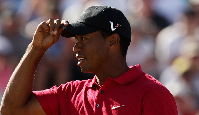 Tiger Woods during the final round of the 2009 Australian Masters.