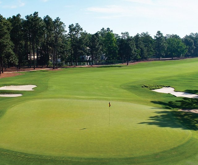 The fifth hole at Pinehurst No. 2.