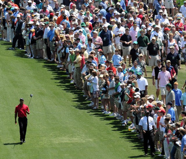 Tiger Woods during the final round of the 2009 Masters.