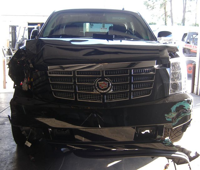 Tiger Woods&#39; SUV days after his Nov. 27 crash outside his Windermere, Fla., home. 