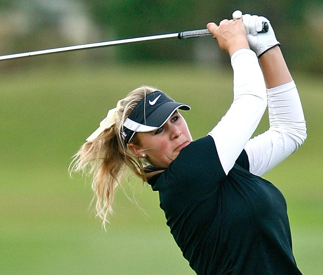 Amanda Blumenherst won LPGA Q-School on Dec. 7 at LPGA International.