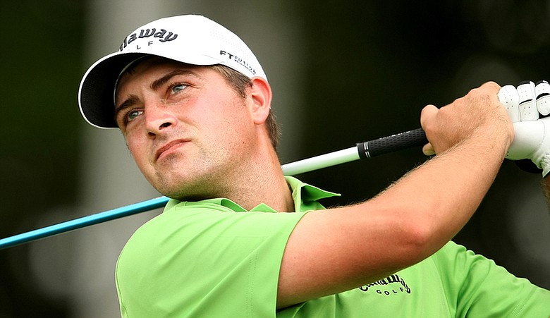 Brian Stuard closed out Round 6 with birdies at Nos. 17 and 18.