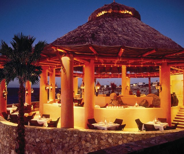 Esperanza Resort at night.