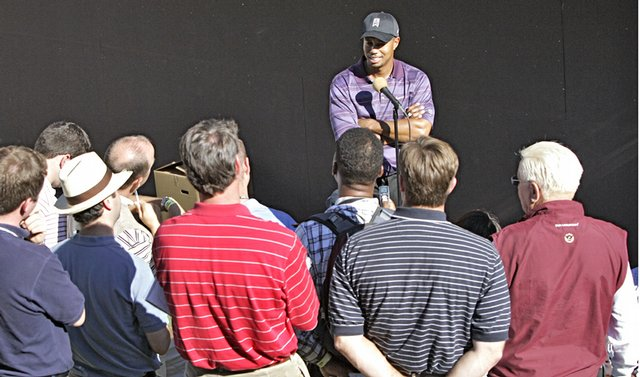 Access to Tiger Woods is limited, even to the golf media.