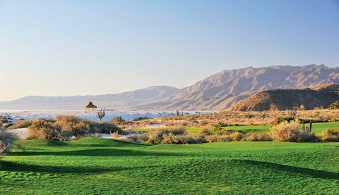 Jagged mountains and the Sea of Cortez surround Tom Doak's first course design in Mexico.