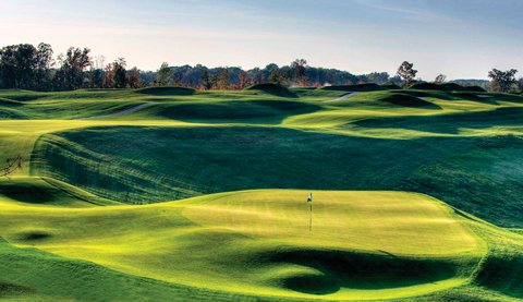 No. 3 at the Pete Dye Course at French Lick Resort.