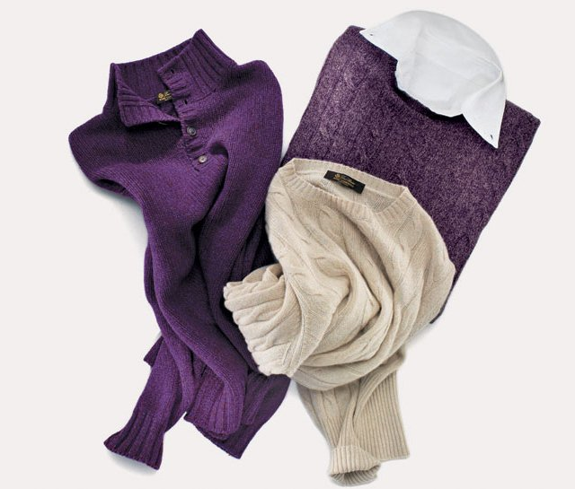 Cashmere sweaters from Loro Piana. 