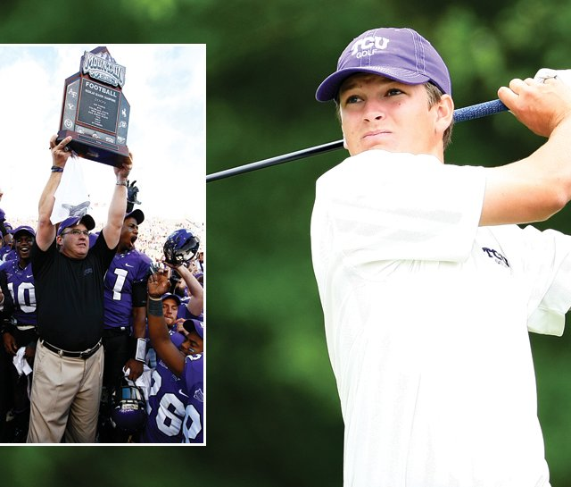 Feeding off TCU&#39;s football success, Travis Woolf and the golf team put together their own fantastic fall.