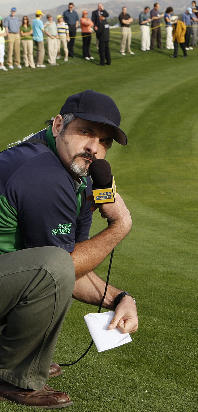 "David Feherty appears on an episode of ""CSI."""