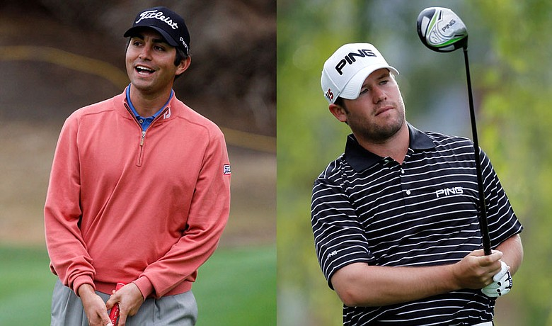 Q-School qualifier Martin Flores, left, and Nationwide Tour grad Alex Prugh are in contention at the Bob Hope Classic.