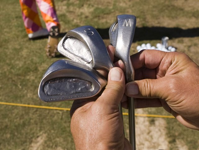 John Dalys 20-year-old Ping Eye 2 wedges, as seen before the second round of the Sony Open.