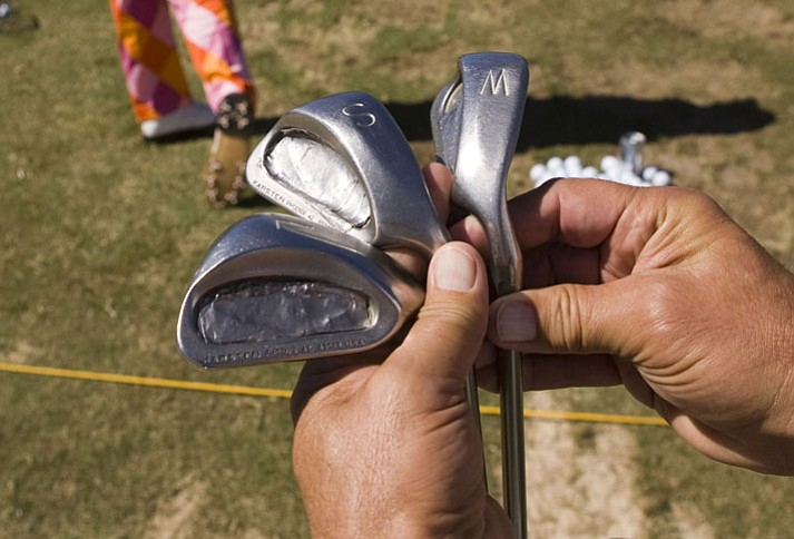 John Daly's 20-year-old Ping Eye 2 wedges, as seen before the second round of the Sony Open.