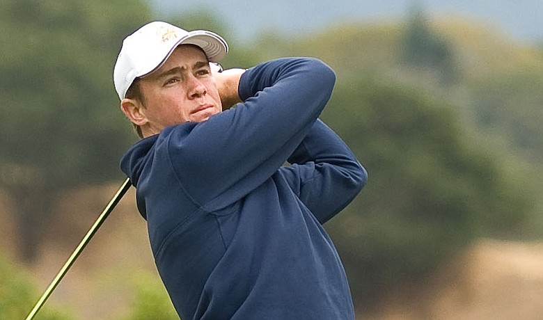 California freshman Michael Weaver is tied for the lead at the Arizona Intercollegiate with 18 holes to play.