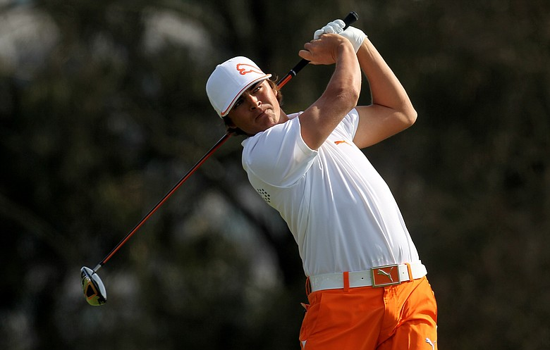Rickie Fowler at the Farmers Insurance Open at Torrey Pines.