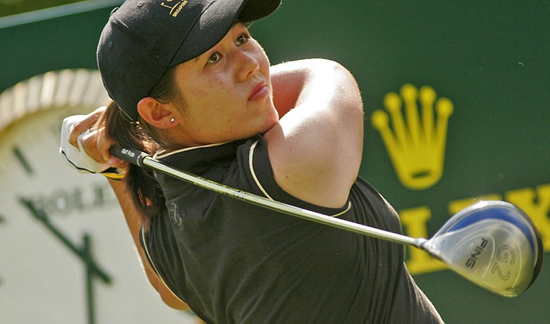 Naree Song during the second round of the 2005 Lexus Cup.