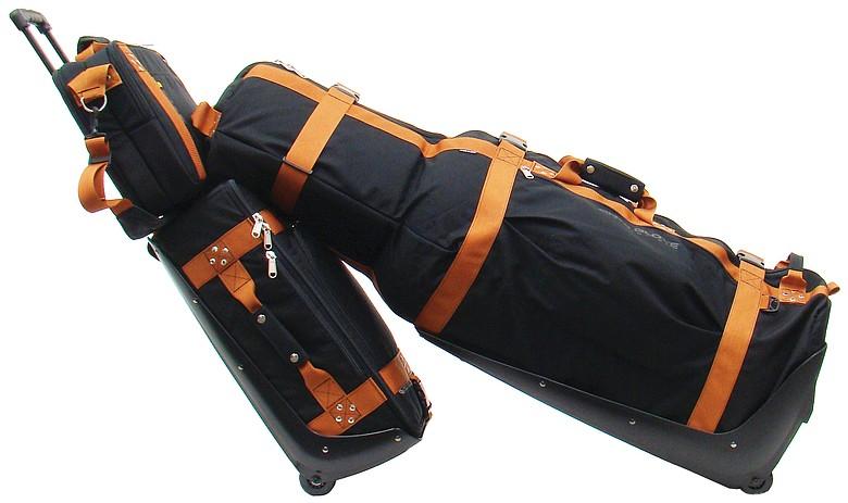 Club Glove's Train Reaction luggage.