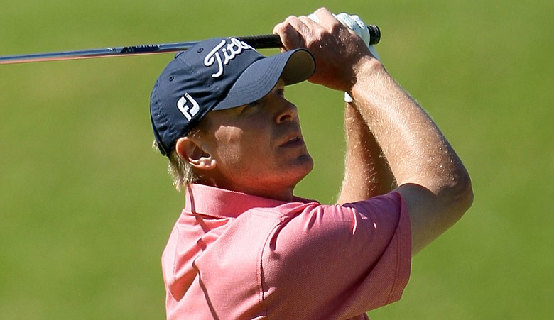 Steve Stricker sported a colorful Peter Millar polo during the final round of the Northern Trust Open.