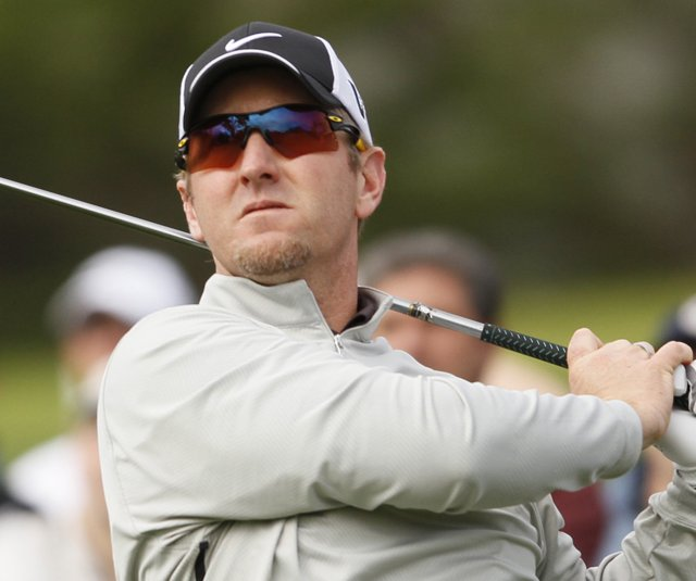 David Duval enters the weekend at the A&T Pebble Beach National Pro-Am one shot behind the six players tied for the lead.