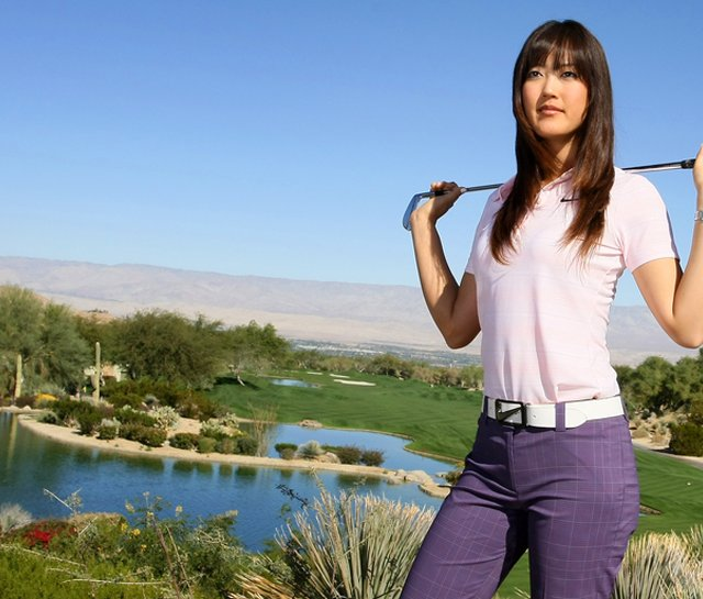 Michelle Wie photographed for Golfweek at Bighorn Golf Club in Palm Desert, Calif.