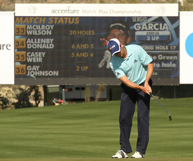 Sergio Garcia at the Accenture Match Play Championship.