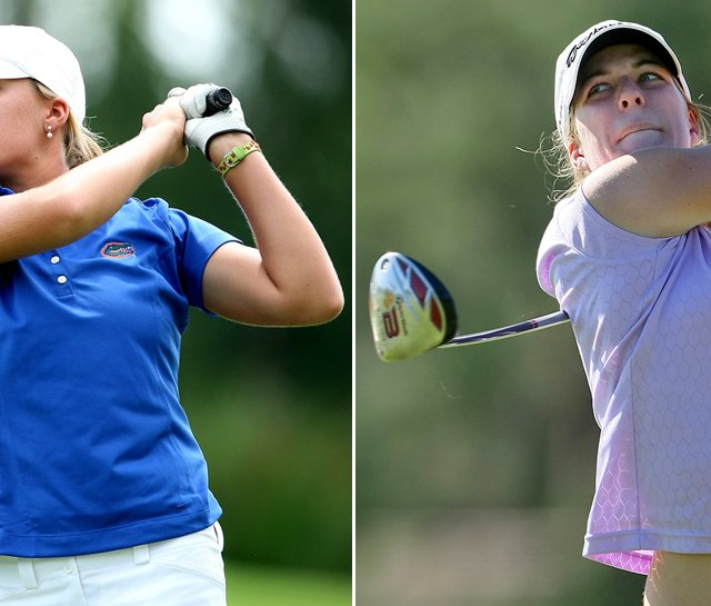 Marika (left) and Isabelle Lendl lead Florida to victory Feb. 23 at the Central District Invitational.
