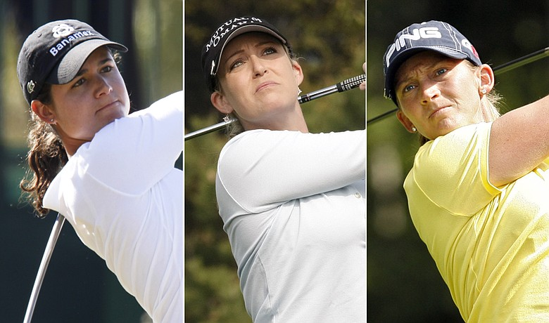 (Left to right) Lorena Ochoa, Cristie Kerr and Angela Stanford
