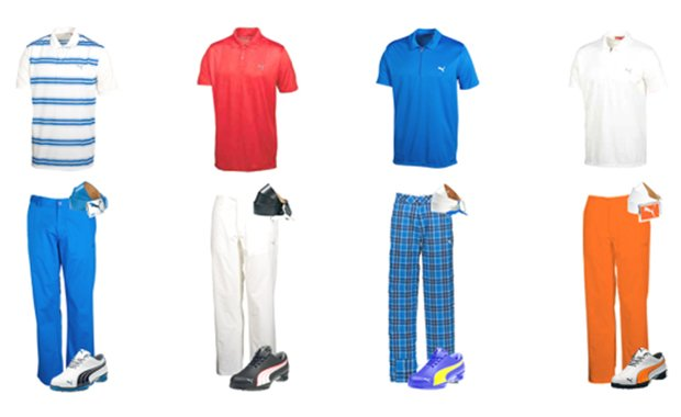 Rickie Fowler's apparel scripting for the Waste Management Phoenix Open.