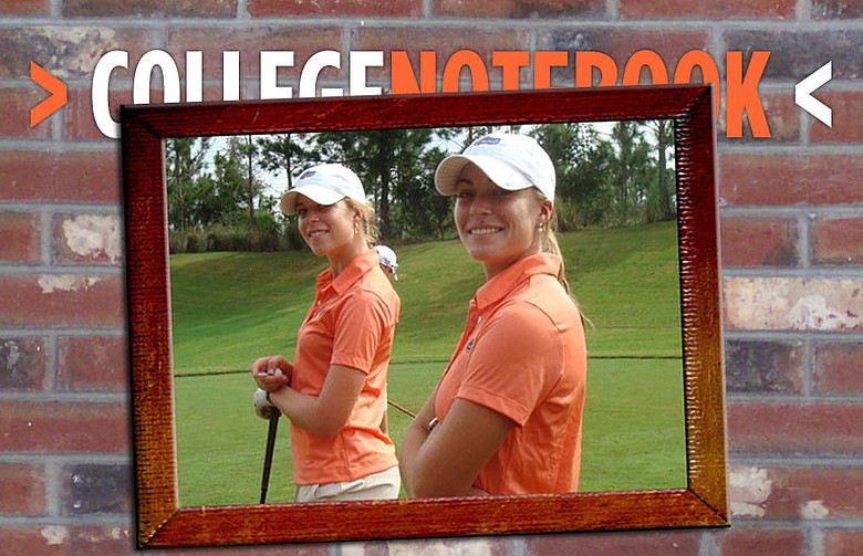 Sisters Isabelle (left) and Marika Lendl tied for first at the Central District Invitational.