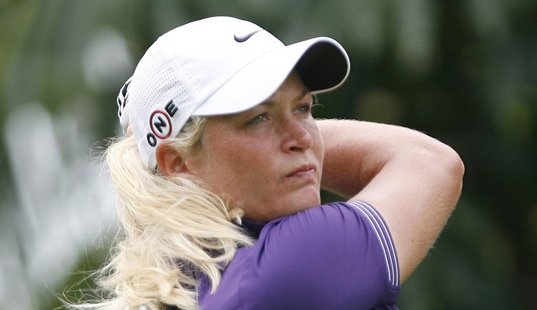 Suzann Pettersen at No. 12 during Round 3 of the HSBC Champions.