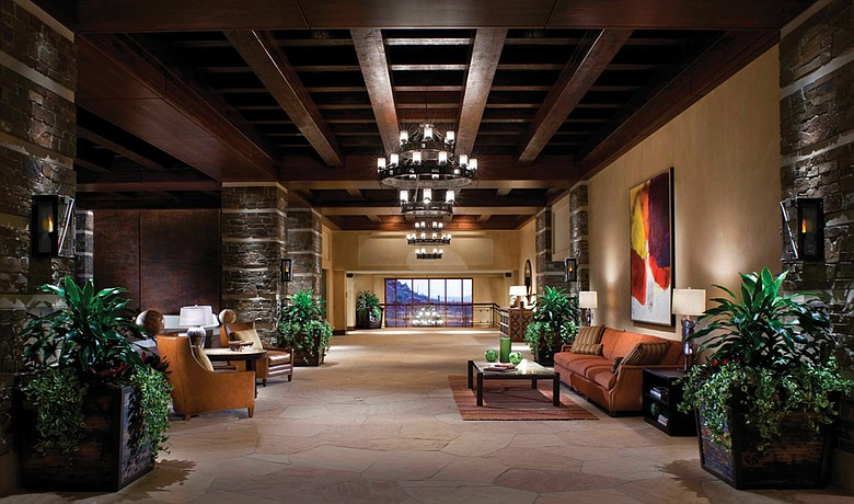 The lobby at Ritz-Carlton Dove Mountain Resort.