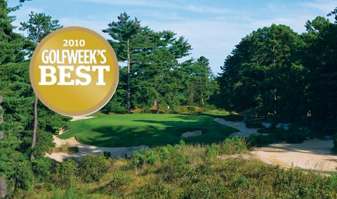 Pine Valley (10th hole pictured) returns to No. 1 on the Classic list.
