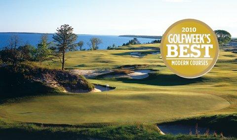 Sebonack Golf Club, ranked No. 6 on Golfweek's Best Modern Courses.