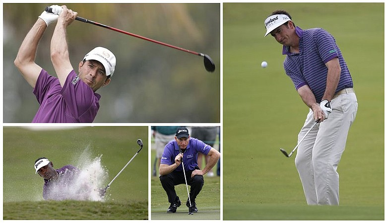 (Clock wise, from top right) Gonzalo Fernandez-Castano, Jim Furyk, Vijay Singh and Mike Weir.