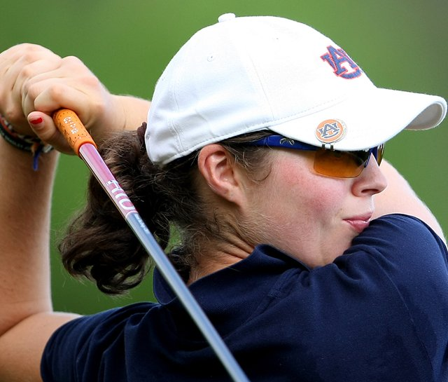 Auburn&#39;s Candace Schepperle fired a 5-under 67 in the final round of the Tiger/Wave Golf Classic March 14 to finish fourth at 3-over 219. The Tigers won the team title, their second victory in a row. 