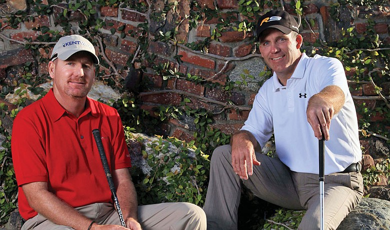 Kevin Johnson (left) and Fran Quinn, together again on the PGA Tour.