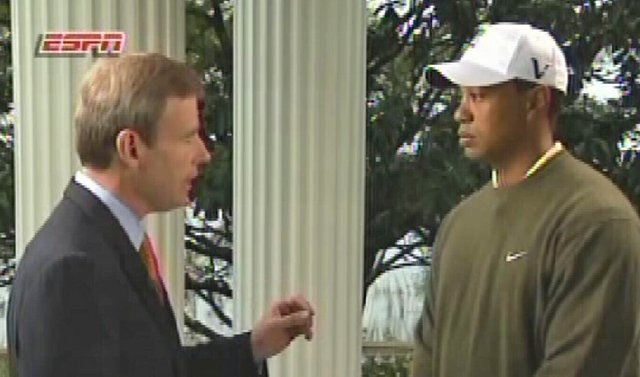 Tiger Woods speaks to Tom Rinaldi in an ESPN interview that aired March 21.