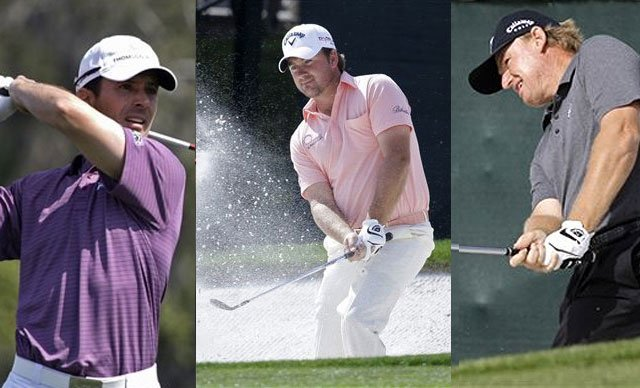 (From left to right) Mike Weir, Graeme McDowell and Ernie Els.