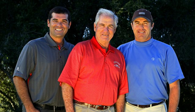 Dave Stockton, flanked by his sons Ronnie (left) and Dave Jr.