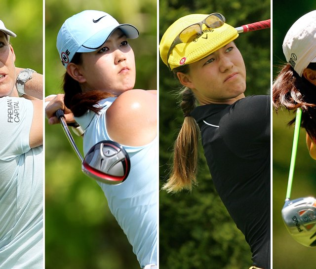 (Left to right) Cristie Kerr, Michelle Wie, Vicky Hurst and Jennifer Song