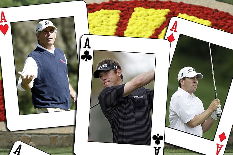 (From left to right) Fred Couples, Lee Westwood and Ben Curtis.