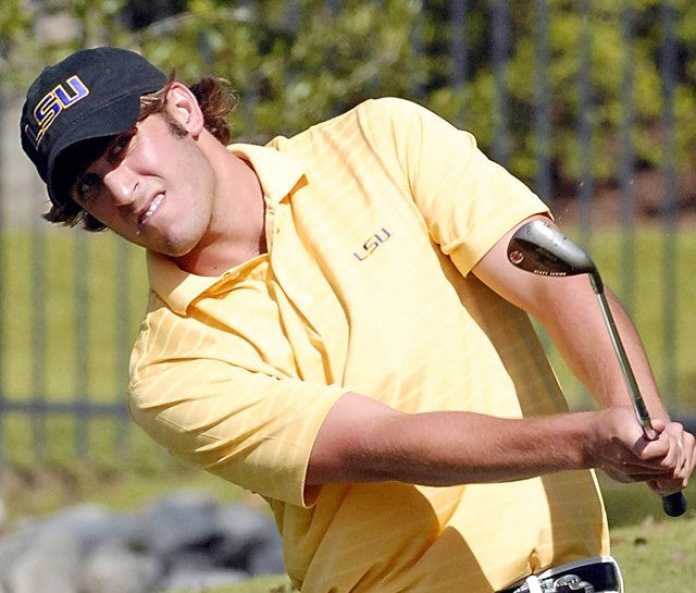 Andrew Loupe, shown here as a member of the LSU golf team, won the NGA Winter Series event at Timacuan.