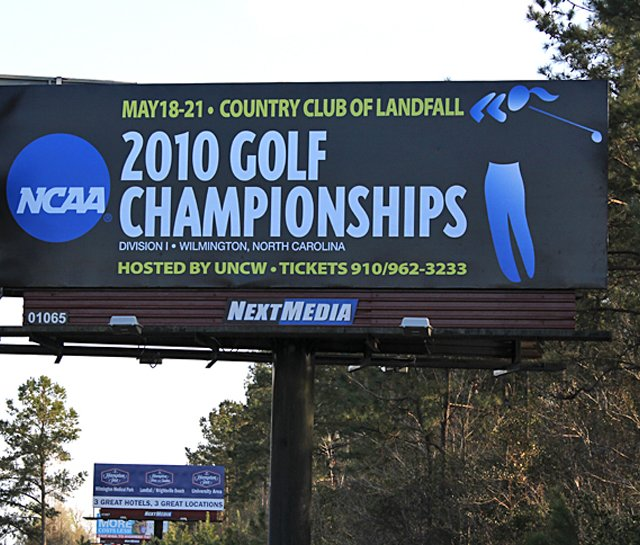 A billboard in Wilmington, N.C., promoting the NCAA Women&#39;s Championship.