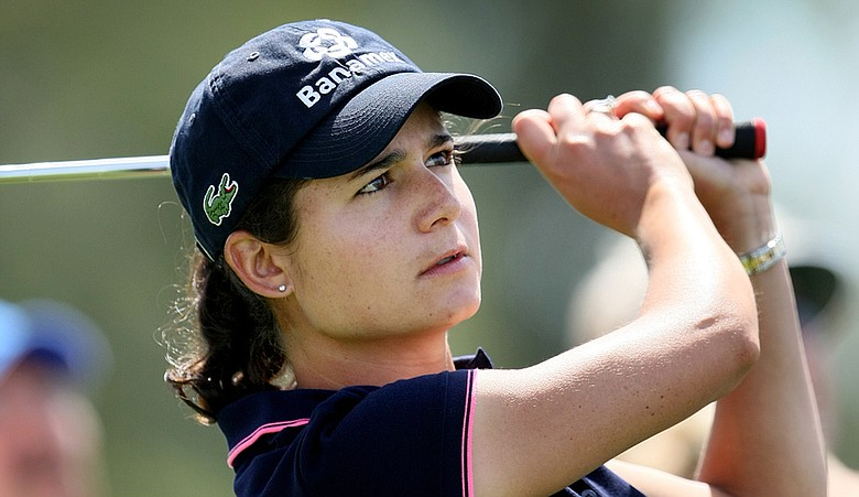 Lorena Ochoa is tied for second at 6 under at the Kraft Nabisco Championship. She also announced Friday the launch of the Lorena Ochoa Golf Foundation.