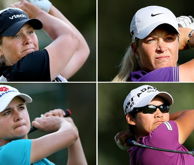(Clockwise from top left) Karen Stupples, Suzann Pettersen, Yani Tseng and Lorena Ochoa