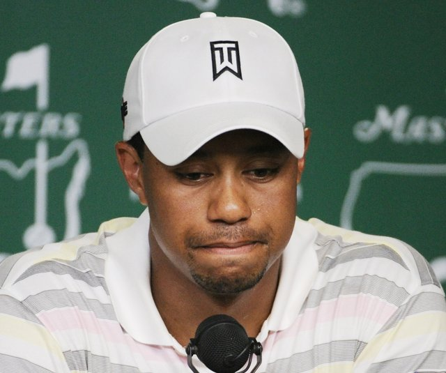 Tiger Woods answered questions in a press conference Monday for the first time in nearly five months.