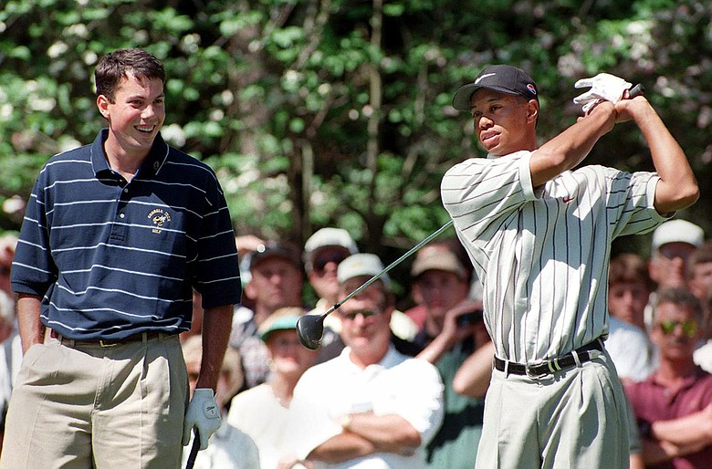 Tiger Woods and Matt Kuchar were paired together during the first round of the 1998 Masters.
