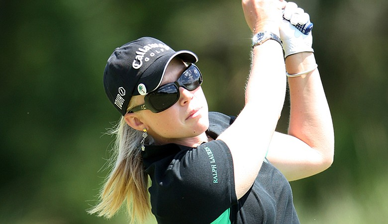Morgan Pressel played new Callaway irons and a Callaway driver at the Kraft Nabisco Championship.