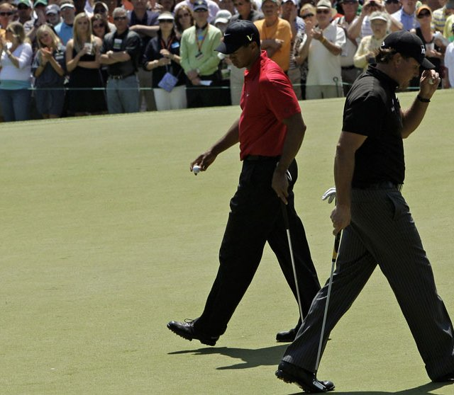 Phil Mickelson and Tiger Woods played together in the final round of the 2009 Masters.