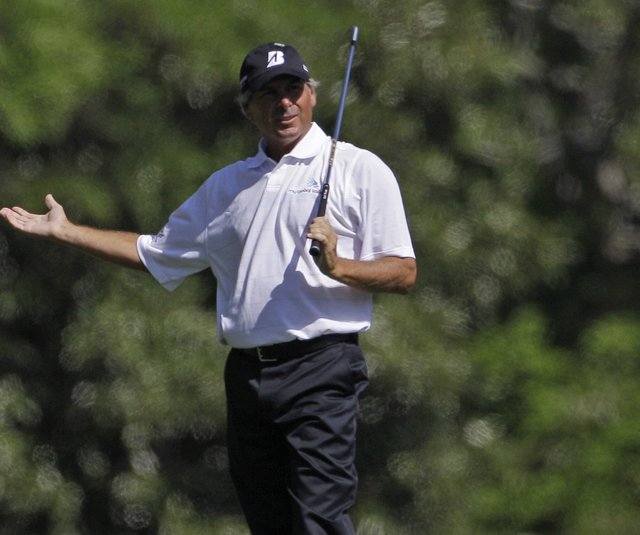 Fred Couples shot 3-over 75 in the second round of the Masters on Friday.